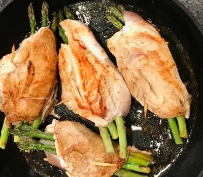 Cheesy Asparagus Stuffed Chicken Breast