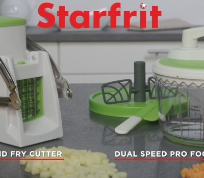 TV Ad Fry Cutter & Cuber + Pro Food Processor