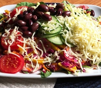 Colored Protein Salad