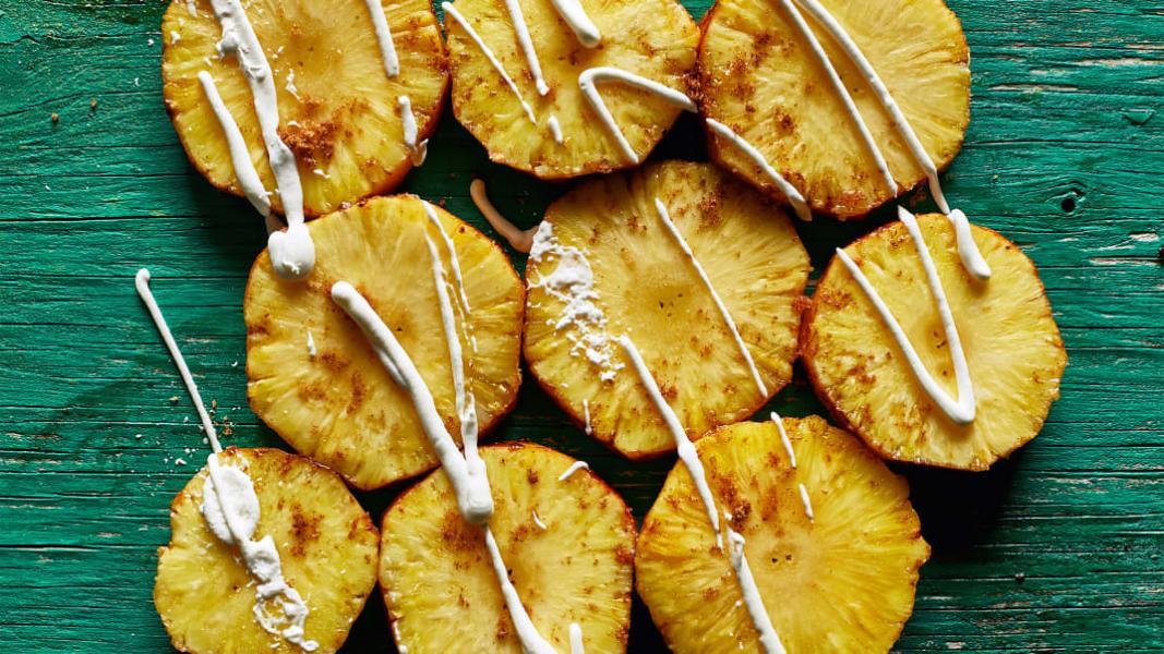 Ananas sur tournebroche à la brésilienne