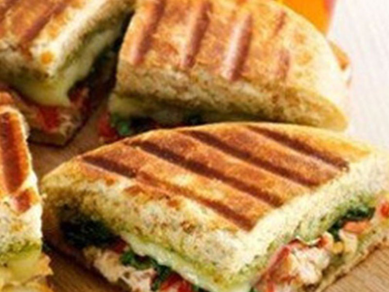 Chicken Panini with Basil Pesto
