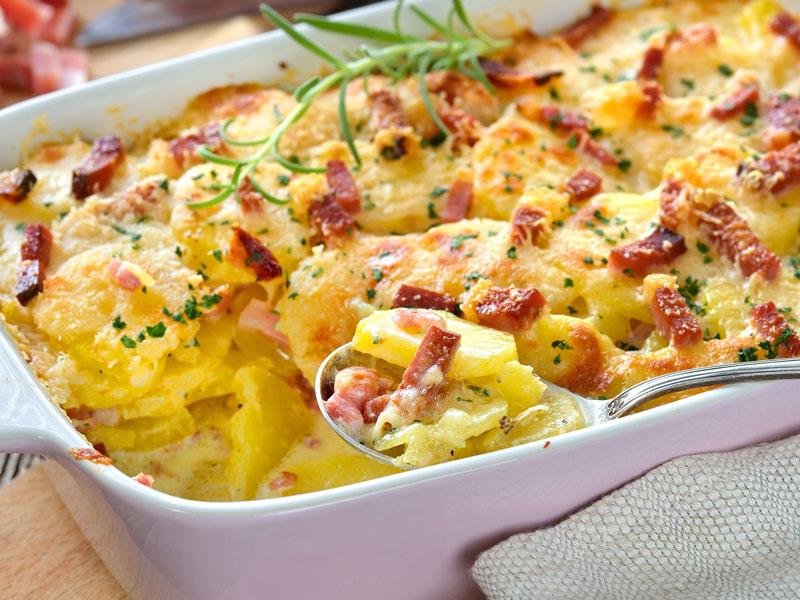 Casserole de jambon et pommes de terre