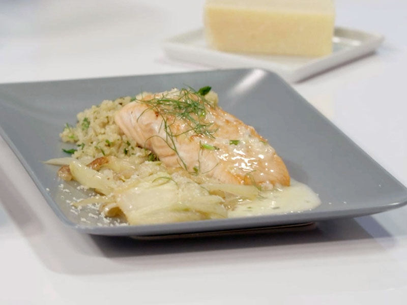 Fennel and Lemon Salmon with Quinoa Pilaf