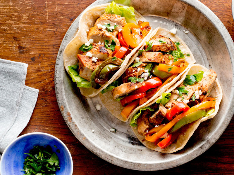 Family Chicken Fajitas