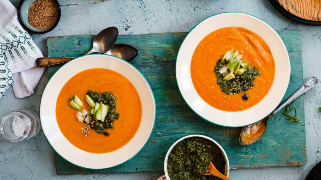 Potage à la carotte et au gingembre