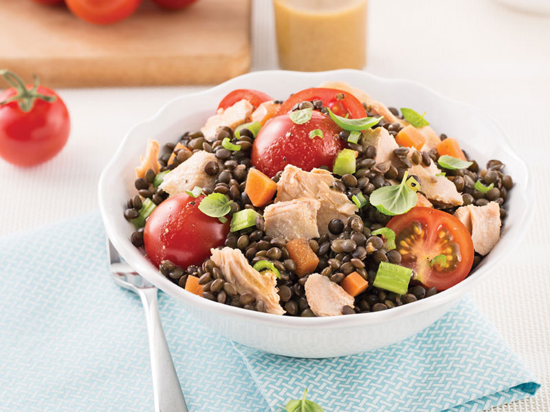 Salmon and Lentil Salad