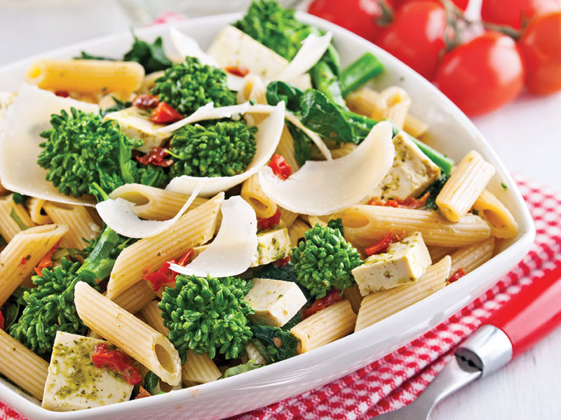 Tofu and Brocoli Rave Pasta Salad