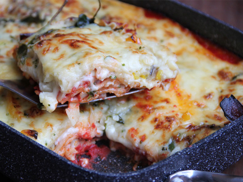 Lasagna with Roasted Vegetables