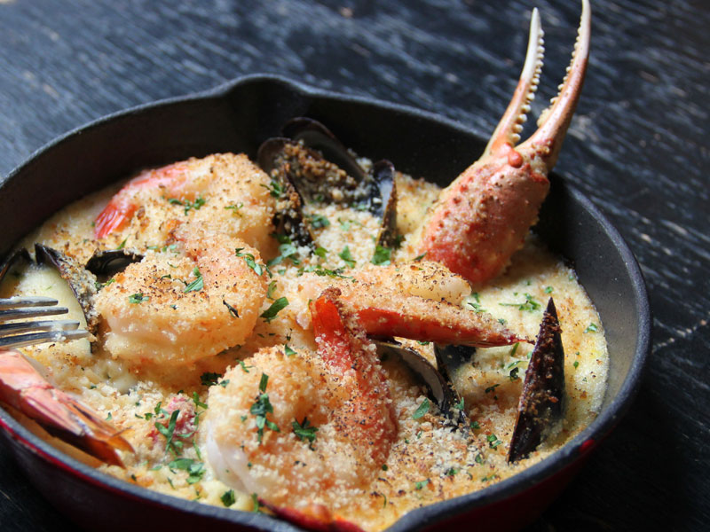 Seafood Gratin with Saffroned Béchamel