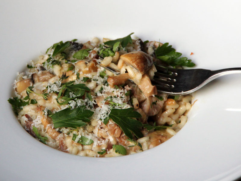 Risotto Express with Mushrooms and Duck Confit
