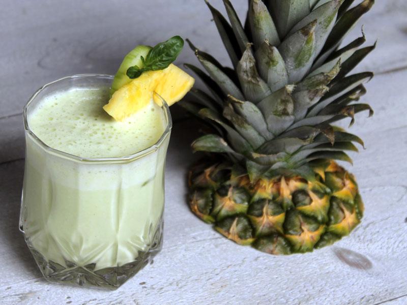 Smoothie ananas concombre