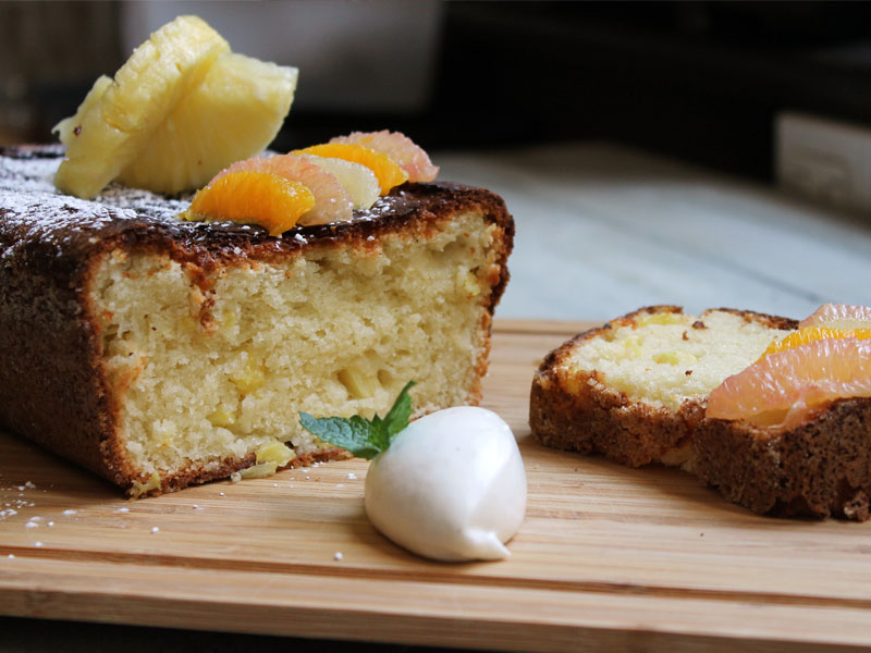 Moist Yogurt and Pineapple Cake