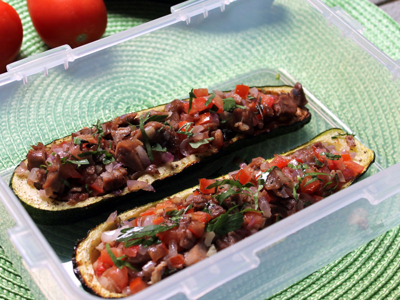 Stuffed Zucchini with Duck Confit