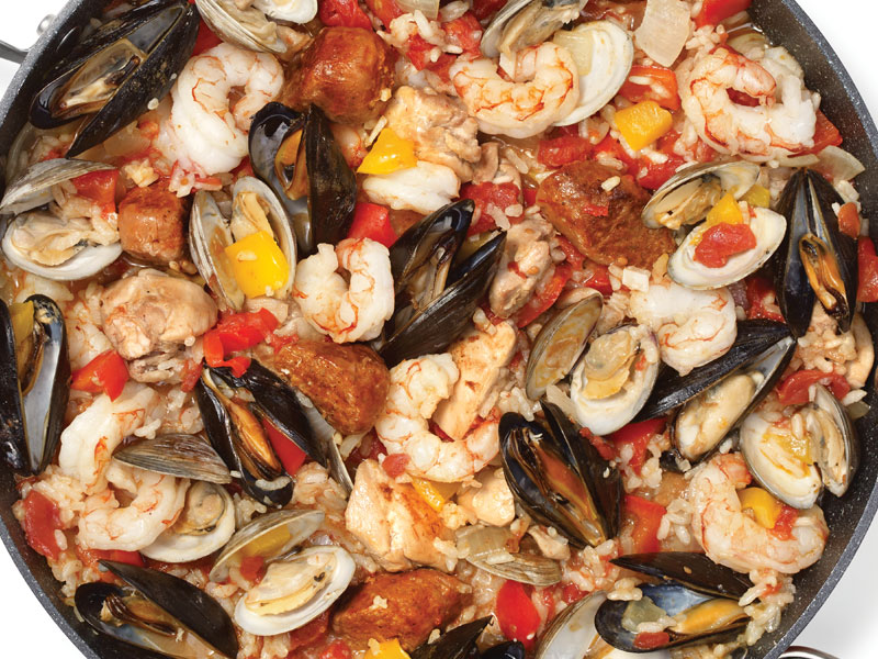 One Pot Chicken Seafood Paella