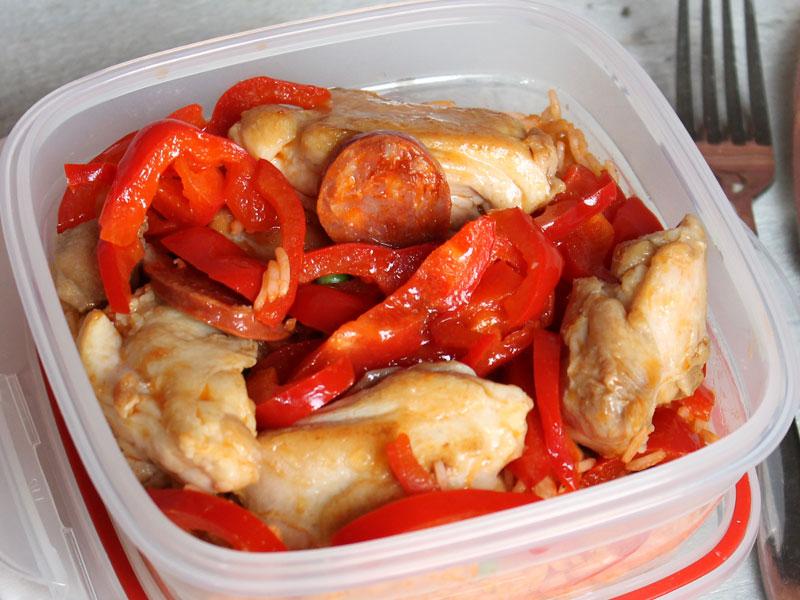 Riz au poulet et chorizo