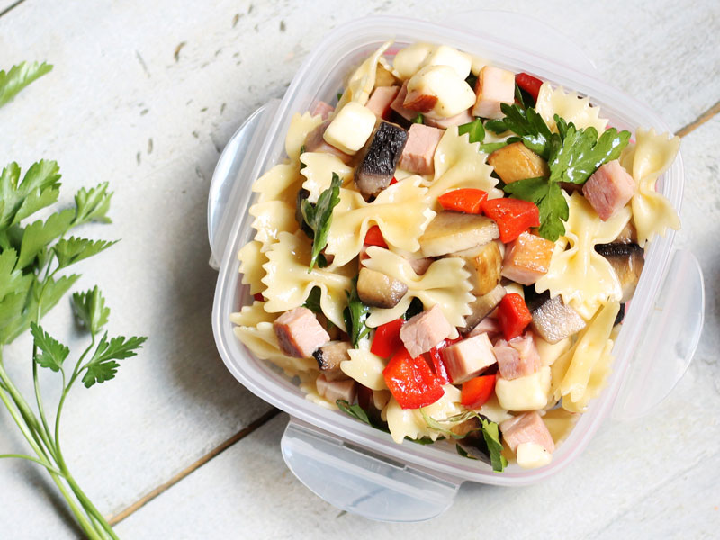 Vegetable and Ham Pasta Salad