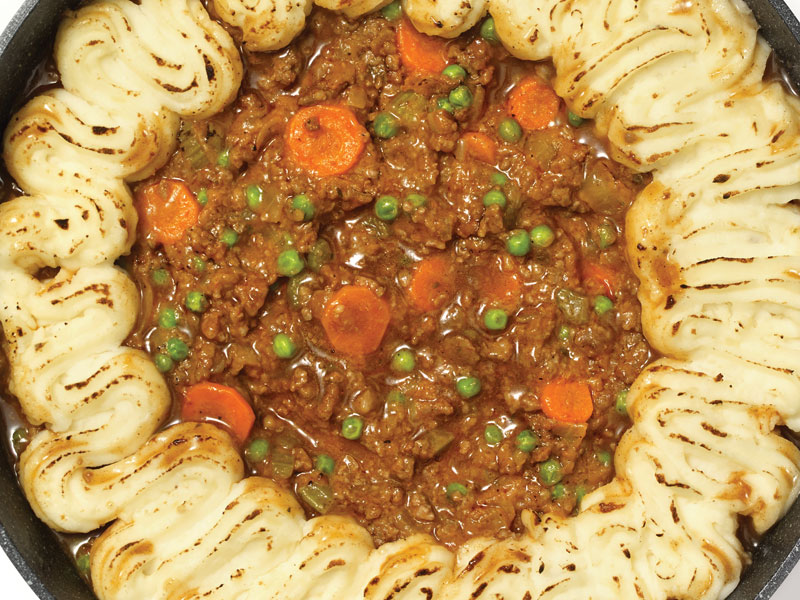 One Pot Savory Sausage Shepherd's Pie