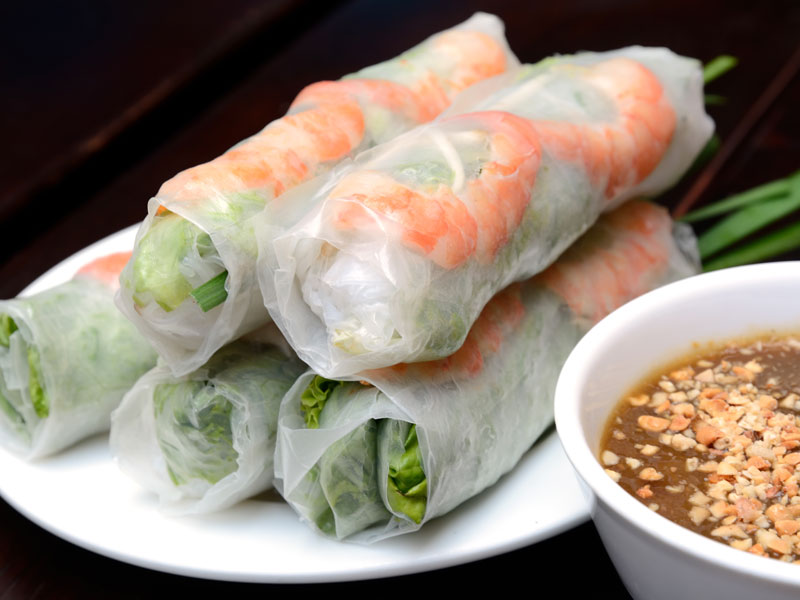 Vegetable and Shrimp Spring Rolls