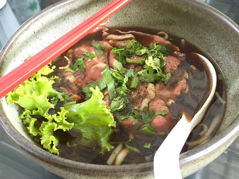 Soupe aux nouilles de Daikon et bœuf
