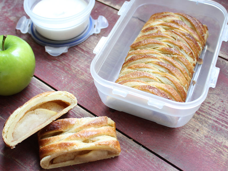 Woven Apple Strudels