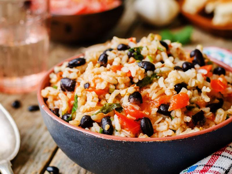 Caribbean-Style Rice & Beans